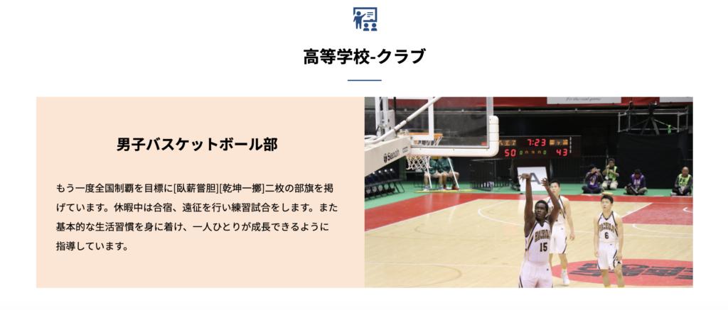 八王子学園八王子バスケットボール部