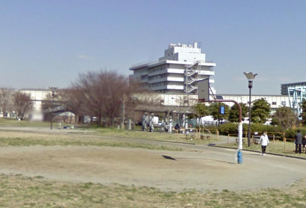 大島小松川公園のゴール