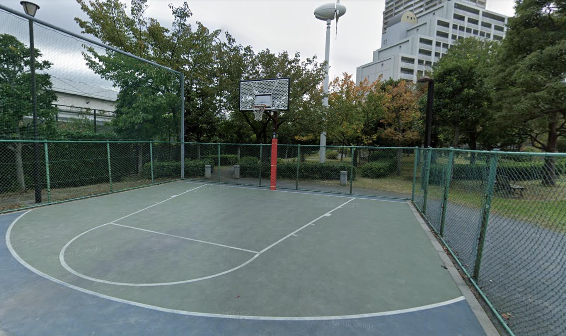 お台場レインボー公園バスケットゴール