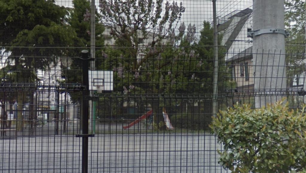 朝日公園のバスケットゴール