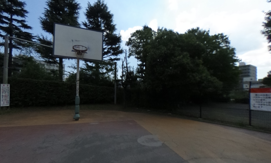 中目黒公園バスケットゴール