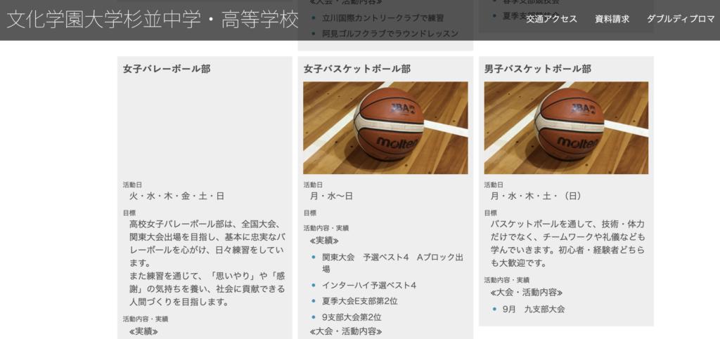 文化学園大杉並女子バスケットボール部