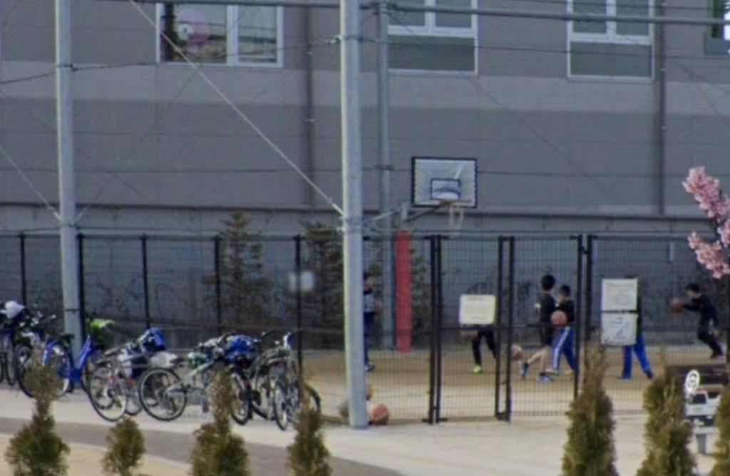 石浜城址公園バスケットゴール