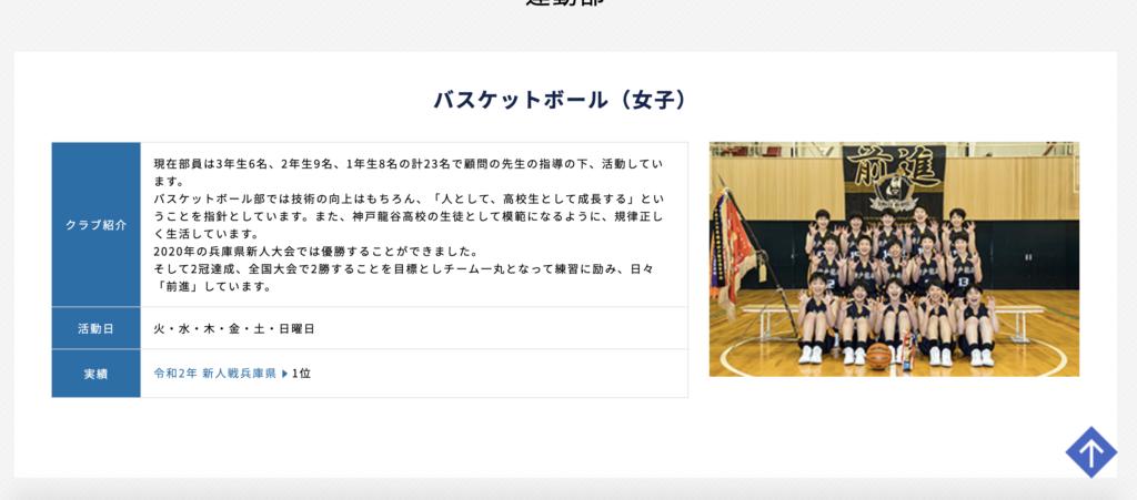 神戸龍谷女子バスケットボール部