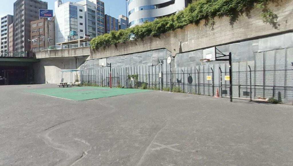 築地川公園バスケットゴール