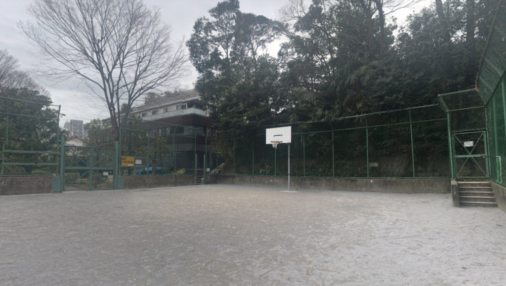 高輪公園のバスケットゴール