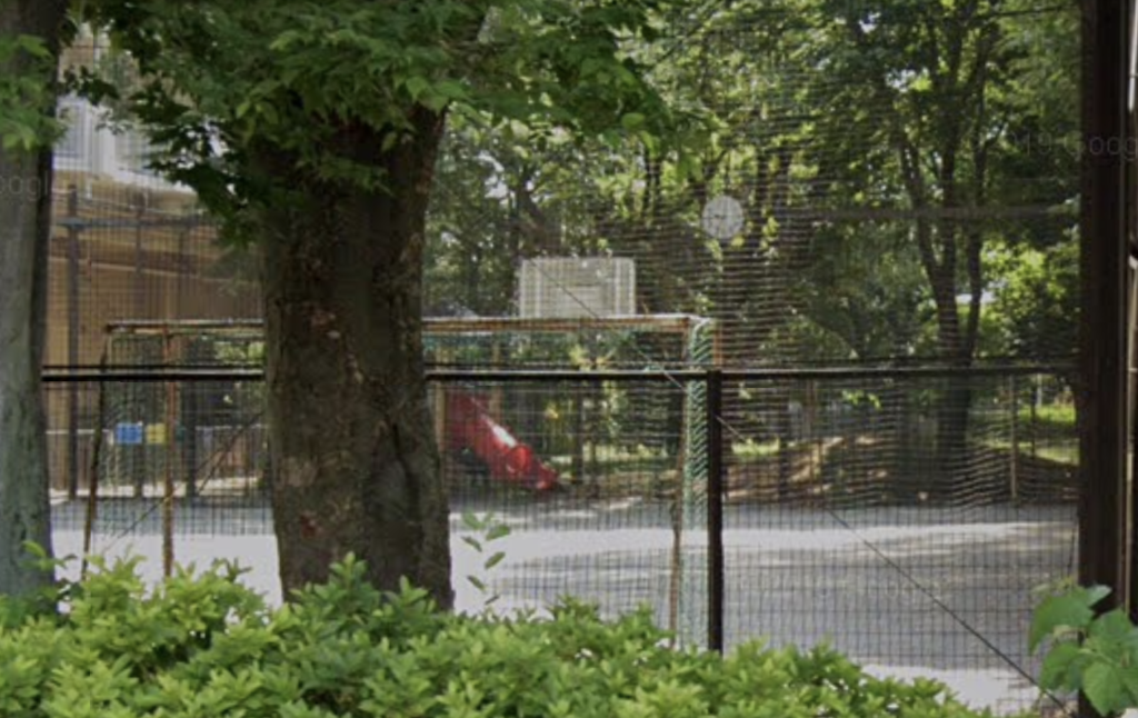 むくのき公園バスケットゴール