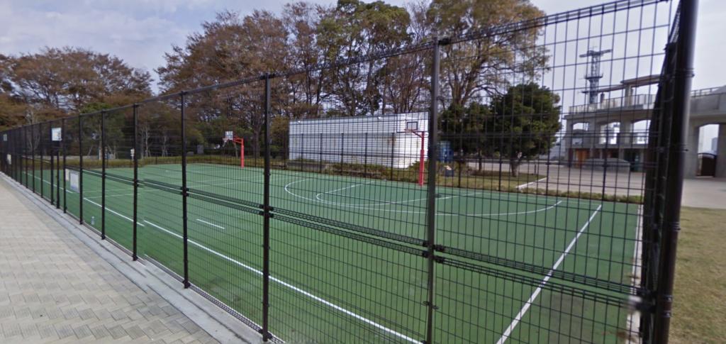 野毛山公園バスケットゴール